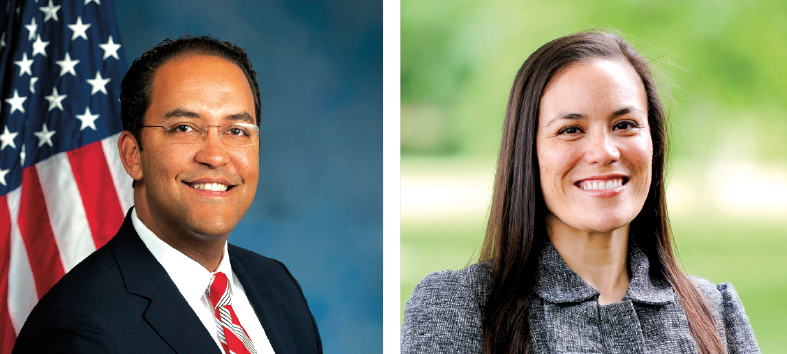 Will Hurd and Gina Ortiz Jones appear to be in for a 2020 rematch, this time with both the Republican and Democratic parties pledging to pour in more money and resources. - COURTESY OF WILL HURD // GINA ORTIZ JONES