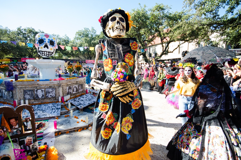 D 237 A De Los Muertos Festival Leaving La Villita Relocating