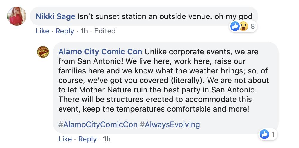ALAMO CITY COMIC CON / FACEBOOK
