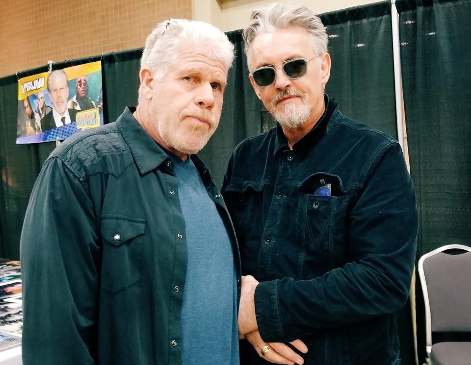 Actors Ron Perlman (left) and Tommy Flanagan during San Antonio's Big Texas Comicon. - FACEBOOK / BIG TEXAS COMICON