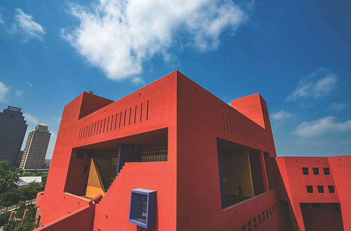 An image of the colorful exterior of SAPL's Central Library, which remains closed to the public until further notice. - PHOTO BY SIGGI RAGNAR