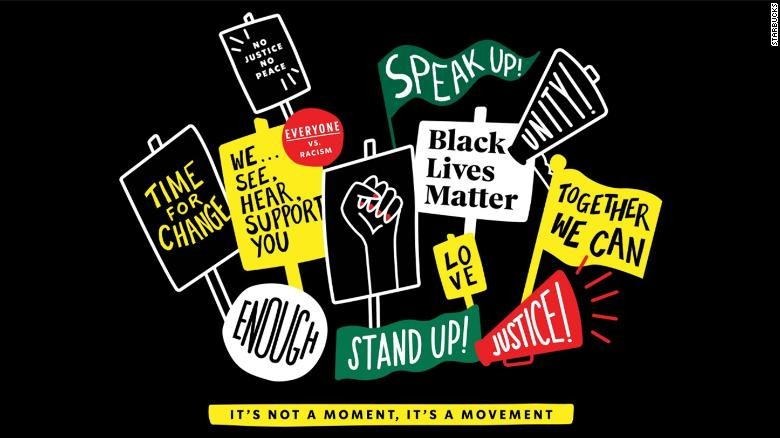 Starbucks' new Black Lives Matter t-shirt design. - COURTESY STARBUCKS
