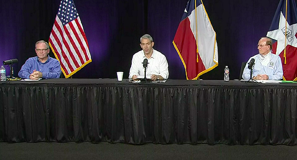 Mayor Ron Nirenberg speaks at Monday's COVID-19 briefing. - SCREEN CAPTURE / KSAT