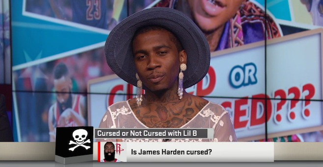 Lil B on ESPN's Sports Nation - COURTESY