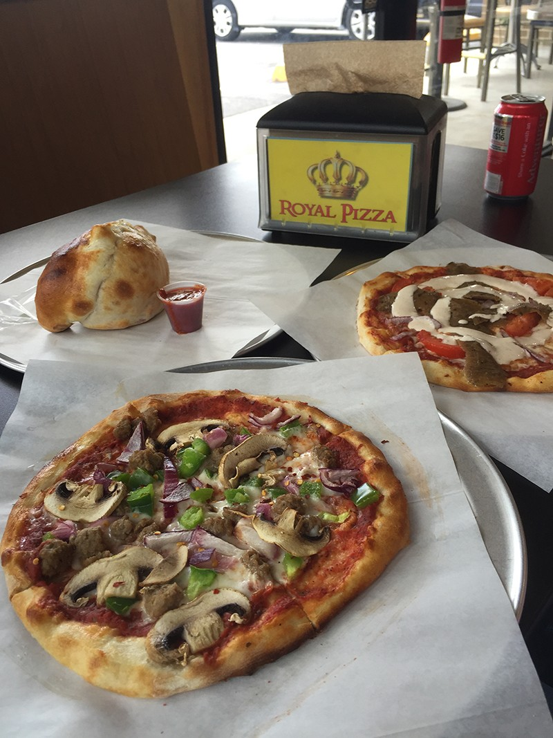 Pizzas fit for a king. - TAYLOR ALLEN