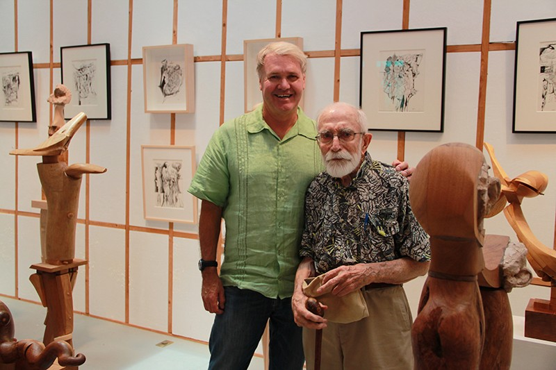Sweeney and Evett at the Evett Sculpture and Drawing Gallery in Blanco. - TRISH SIMONITE