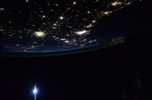 Astronaut Scott Kelly tweeted this picture of Texas from space. - VIA TWITTER USER @STATIONCDRKELLY