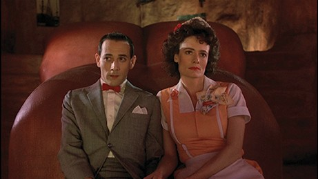 Diane Salinger as Simone and Paul Reubens as Pee-wee Herman in 'Pee-wee's Big Adventure.' - COURTESY