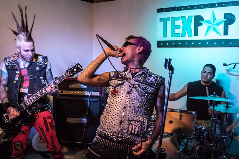 "The Semi-Automatics performed at the ""Terror in Taco Town"" exhibit opening at Tex Pop last weekend. - ALEX RAMIREZ"
