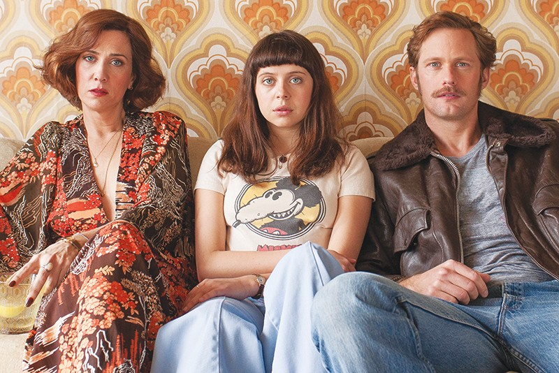 Left to right: Kristen Wiig, Bel Powley and Alexander Skarsgård as the nuclear (disaster) family in The Diary of a Teenage Girl. - COURTESY