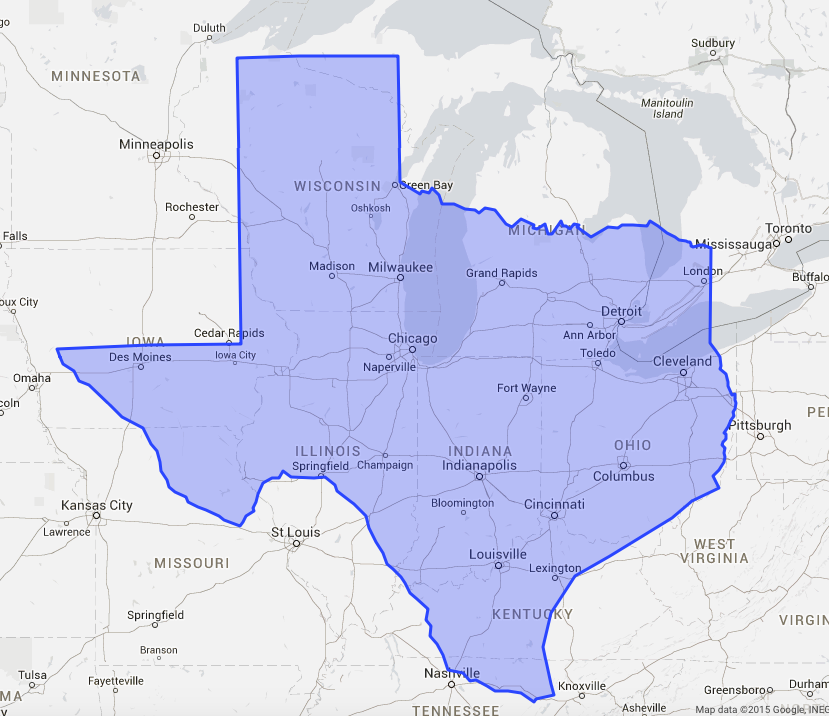 7 Maps To Remind You That Texas Is Enormous | The Daily