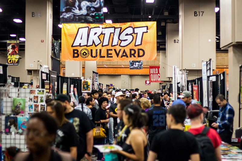 Artist Boulevard at the 2014 Alamo City Comic Con. - RICK CANFIELD