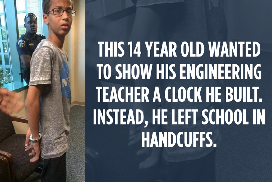 Social media users were not happy with the arrest of a young Muslim student who brought a clock to school. - FIGHT FOR THE FUTURE /TWITTER