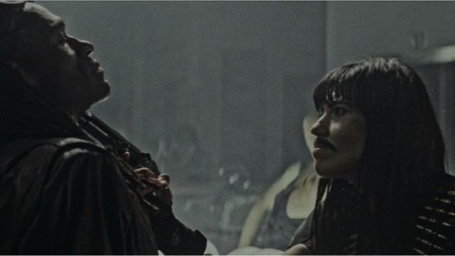 Don't ask why Raksha (Doroteya Toleva, right) has a mustache. Seriously, don't ask. You might lose a limb. - THE HORROR COLLECTIVE