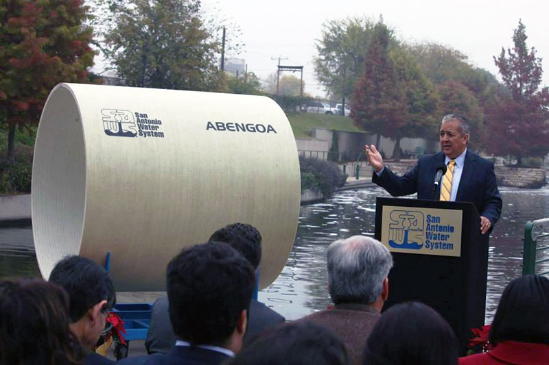 SAWS CEO launches the Vista Ridge Pipeline Project in December 2014. - SAWS/FACEBOOK