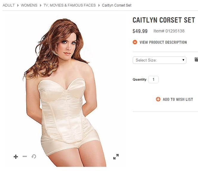 The Caitlyn Corset Set for sale at Spirit Halloween. Don't buy it. - SPIRIT HALLOWEEN