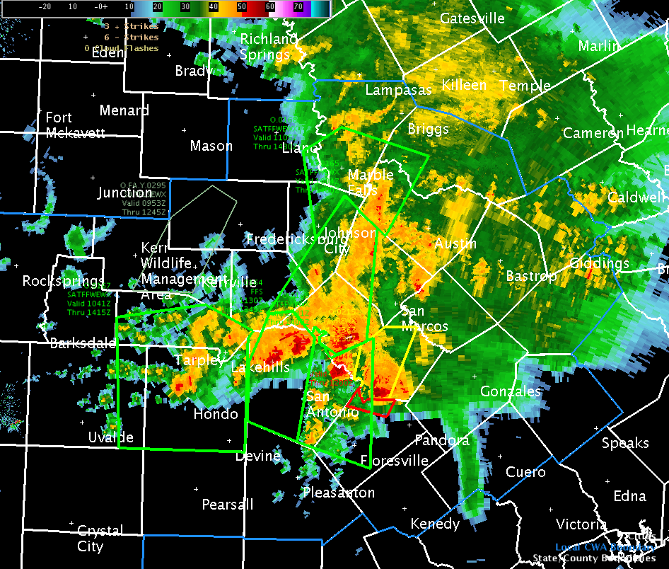 San Antonio Weather Map Radar.Severe Weather Strikes San Antonio Again The Daily