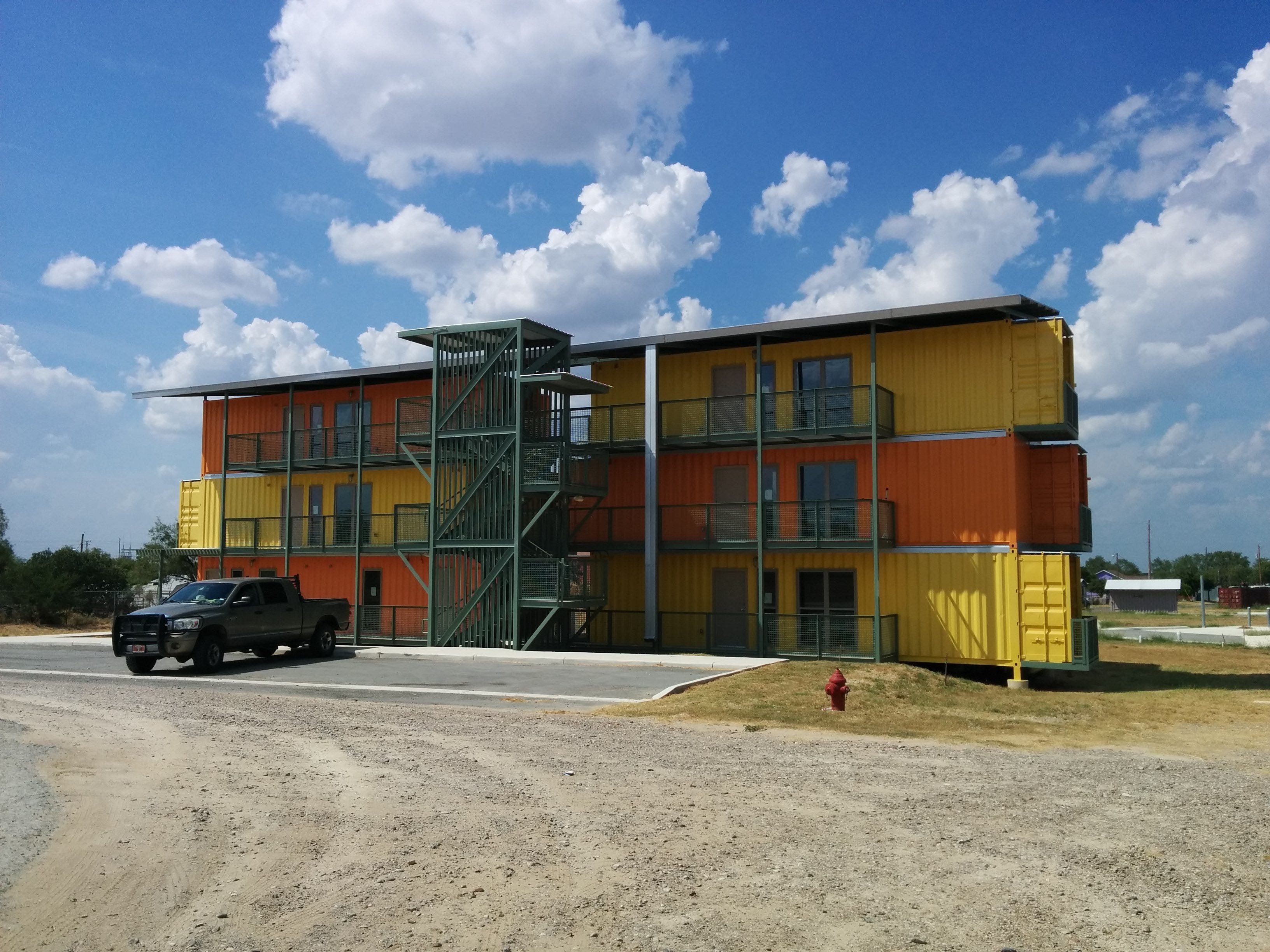 San Antonio Developer Completes Shipping Container Apartment ...