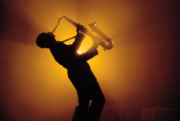 Man playing Saxophone - COURTESY