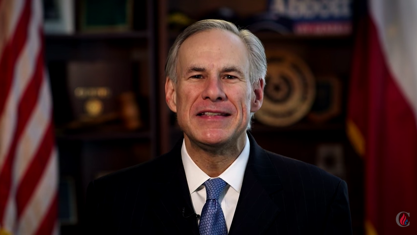 Texas Gov. Greg Abbott endorses Sen. Ted Cruz. - YOUTUBE SCREENSHOT/CRUZ FOR PRESIDENT