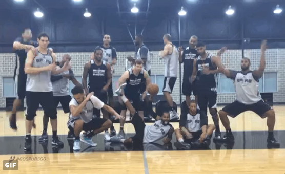Breaking it down. - SAN ANTONIO SPURS/TWITTER