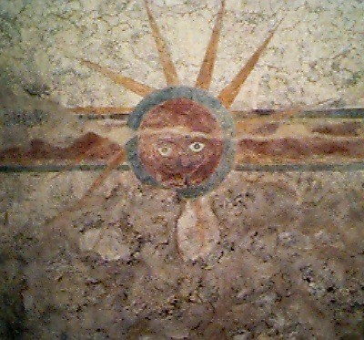 Frescos at Mission Concepción were painted more than 250 years ago, according to the National Park Service. - NATIONAL PARK SERVICE