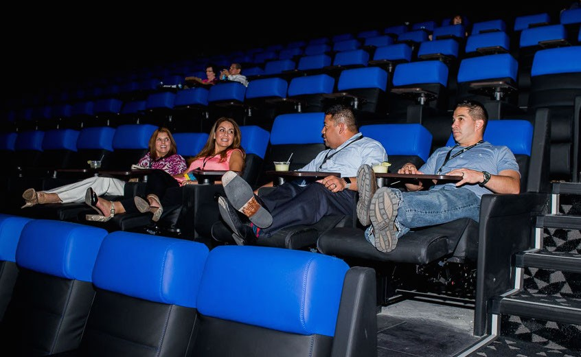 Kick back, relax and enjoy a flick at the new Santikos Casa Blanca Theater in Alamo Ranch on the city's northwest side. - COURTESY