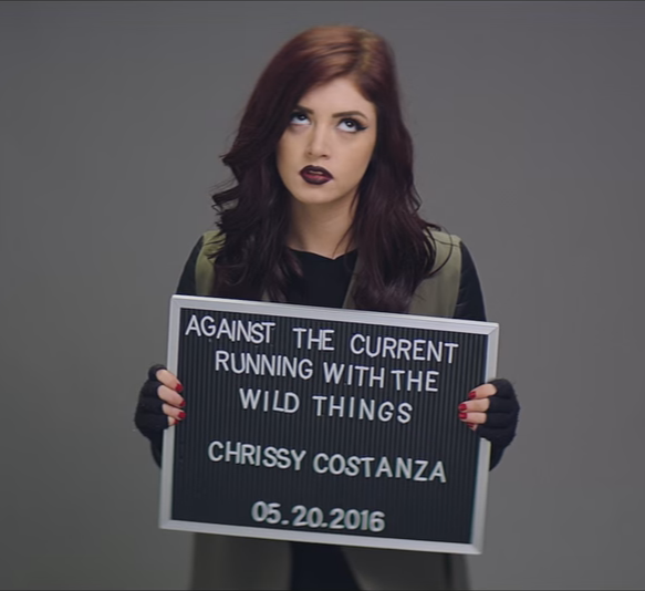 Against The Current's Chrissy Constanza is just one of the women playing at this year's Warped Tour. - YOUTUBE