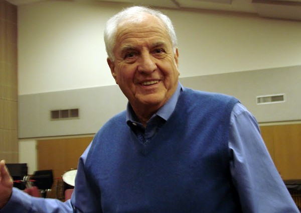 Director/writer Garry Marshall at Trinity University practicing with the San Antonio Opera for L'Elisir d'amore (Elixir of Love) in 2008. - FRANCIS GRAFFEO/SAN ANTONIO OPERA