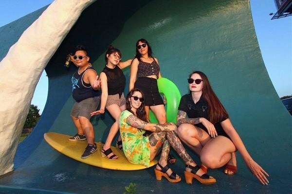 Topo Chica:  Sylvia (drums), Briana L (keys), Rita (guitar/backup vocals), Kalyn (bass), Briana M (vocals) - COURTESY