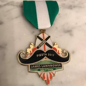 James Lawnmower 2017 Fiesta medal.