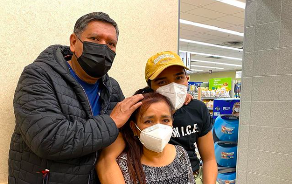 Sebastian Araujo shared the story on social media after her mother, who's undocumented, was initially turned away from a vaccination appointment. - INSTAGRAM / SEBASTIANARAUJO
