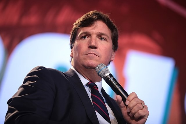 Tucker Carlson speaks at a conservative conference in West Palm Beach, Florida. - WIKIMEDIA COMMONS / GAGE SKIDMORE