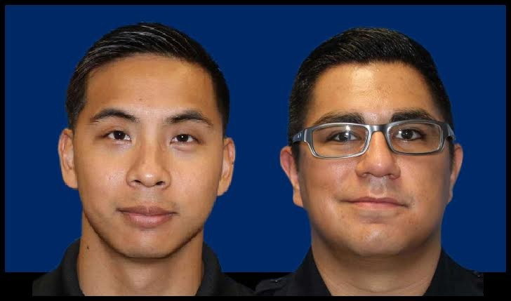 Former SAPD officers Alejandro Chapa and Emmanuel Galindo. - BEXAR COUNTY, SARAH FLOOD-BAUMANN
