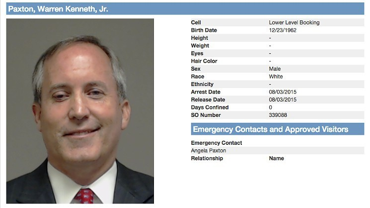 Texas Attorney General Ken Paxton was booked on felony fraud charges in 2015. On Thursday, the near-identical federal civil case against him was thrown out