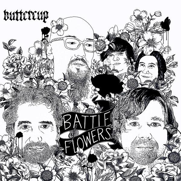 """BATTLE OF FLOWERS"" ALBUM ART BY CHRIS SAUTER"