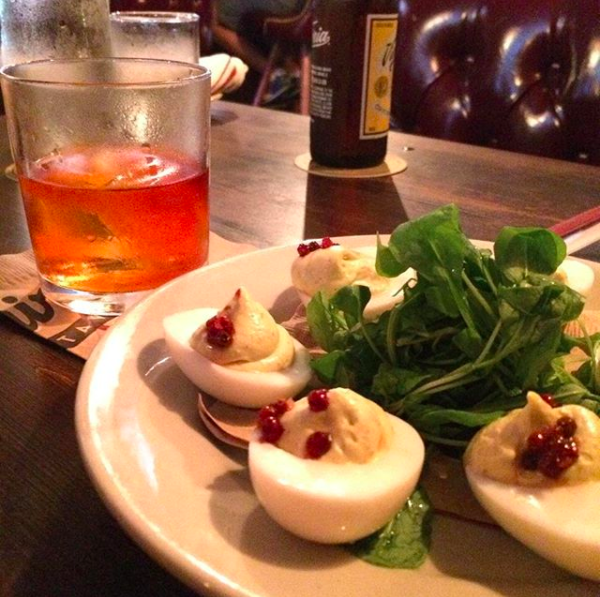 Snacks and cocktails at Esquire Tavern -  INSTAGRAM/DOUGKAWALSKI