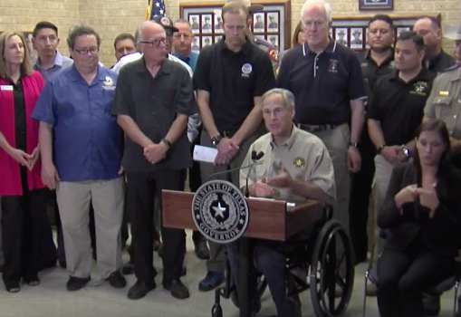 Gov. Greg Abbott addresses public at Corpus Christi press conference - FACEBOOK LIVE SCREENSHOT VIA KENS5