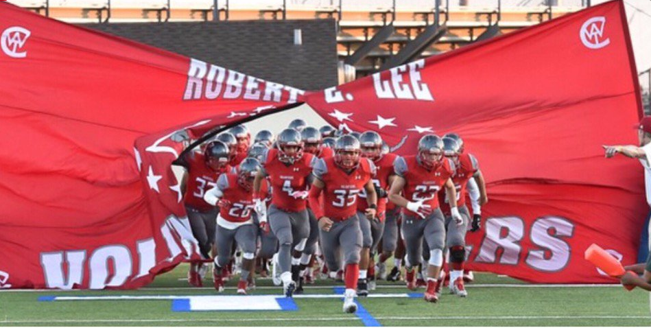 Robert E. Lee football team, the Volunteers. - TWITTER VIA @LEEVOLSFOOTBALL