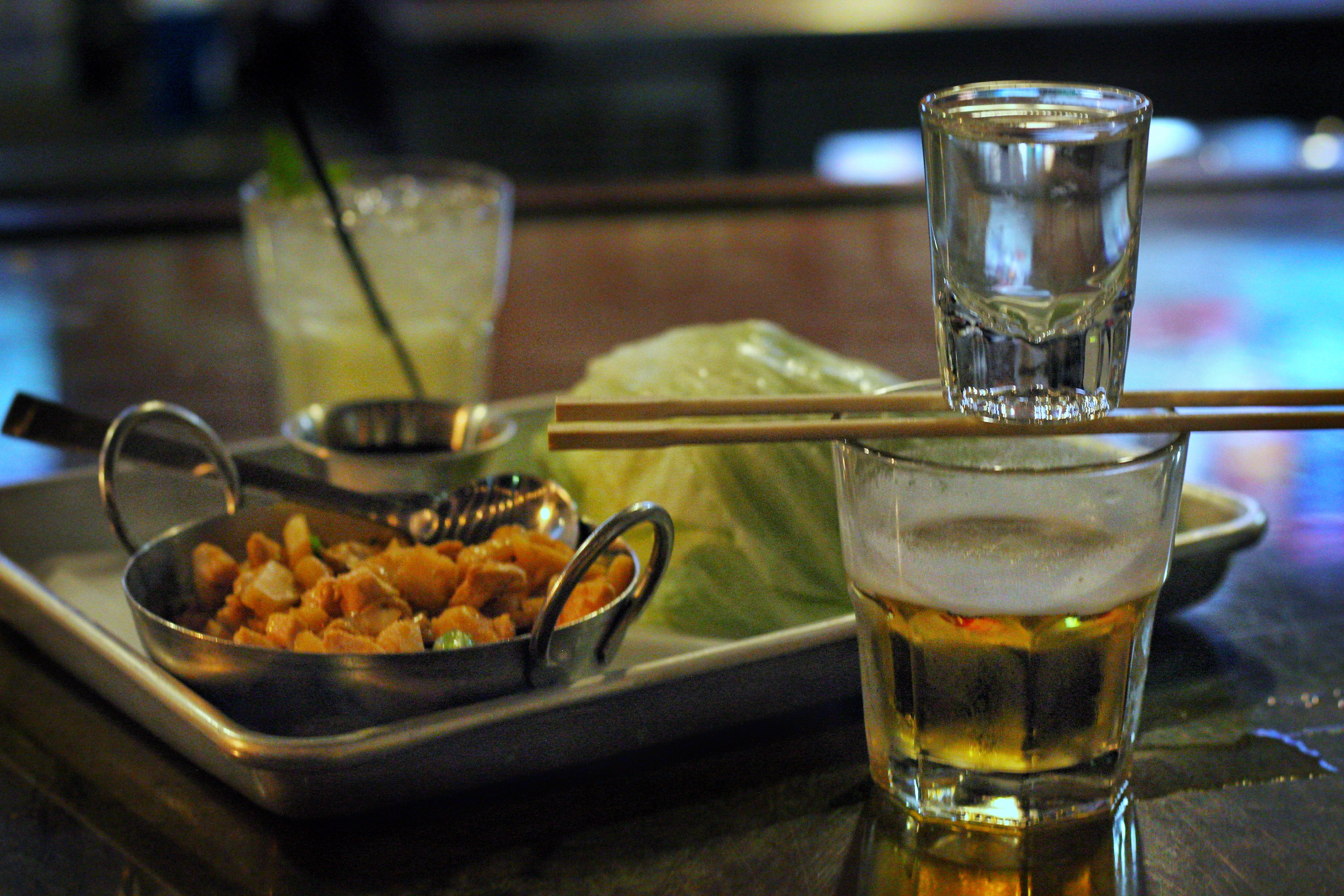 click to enlarge lettuce wraps and sake bombs erin winch - Kung Fu Kitchen