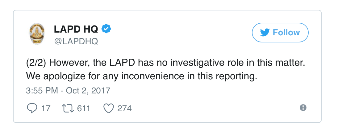 TWITTER, LAPD