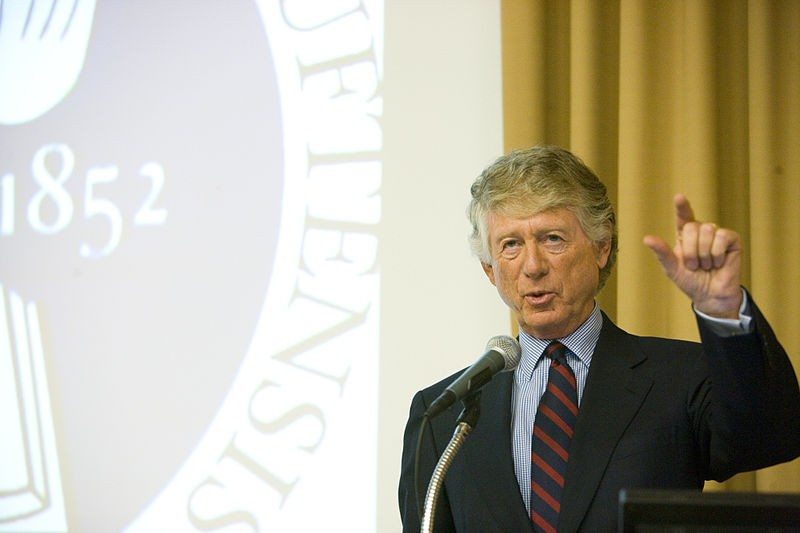 Ted Koppel speaking at the Edward R. Murrow Forum. - WIKIMEDIA COMMONS