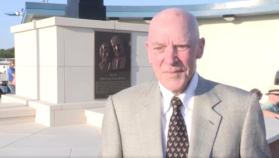 Robert McNair - FACEBOOK SCREENSHOT VIA HOUSTON BAPTIST UNIVERSITY