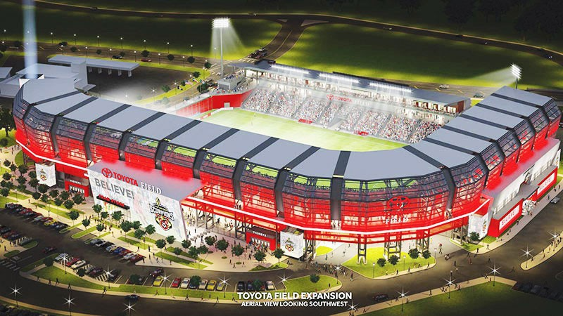 Proposed design for the Toyota Field expansion if MLS accepts San Antonio's bid. - SAN ANTONIO SCORPIONS