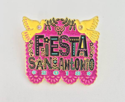 Official 2018 Poster Pin - PHOTO VIA FIESTA SAN ANTONIO COMMISSION