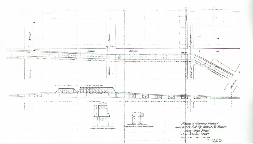 Original blueprint of Hays Street Bridge - U.S. DEPTARTMENT OF THE INTERIOR