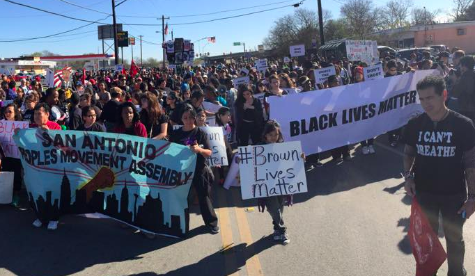 Members of SATX4 at 2016's MLK March - FACEBOOK / SATX4