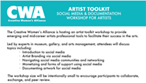 Social Media and Documentation Workshop presented by the Creative Women's Alliance