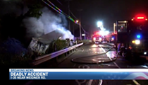 USPS Truck Driver Loses Control of Vehicle, Dies in Fiery Crash on I-35 Overnight