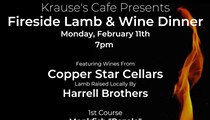 Krause's Cafe and Biergarten Presents: Fireside Lamb & Wine Dinner